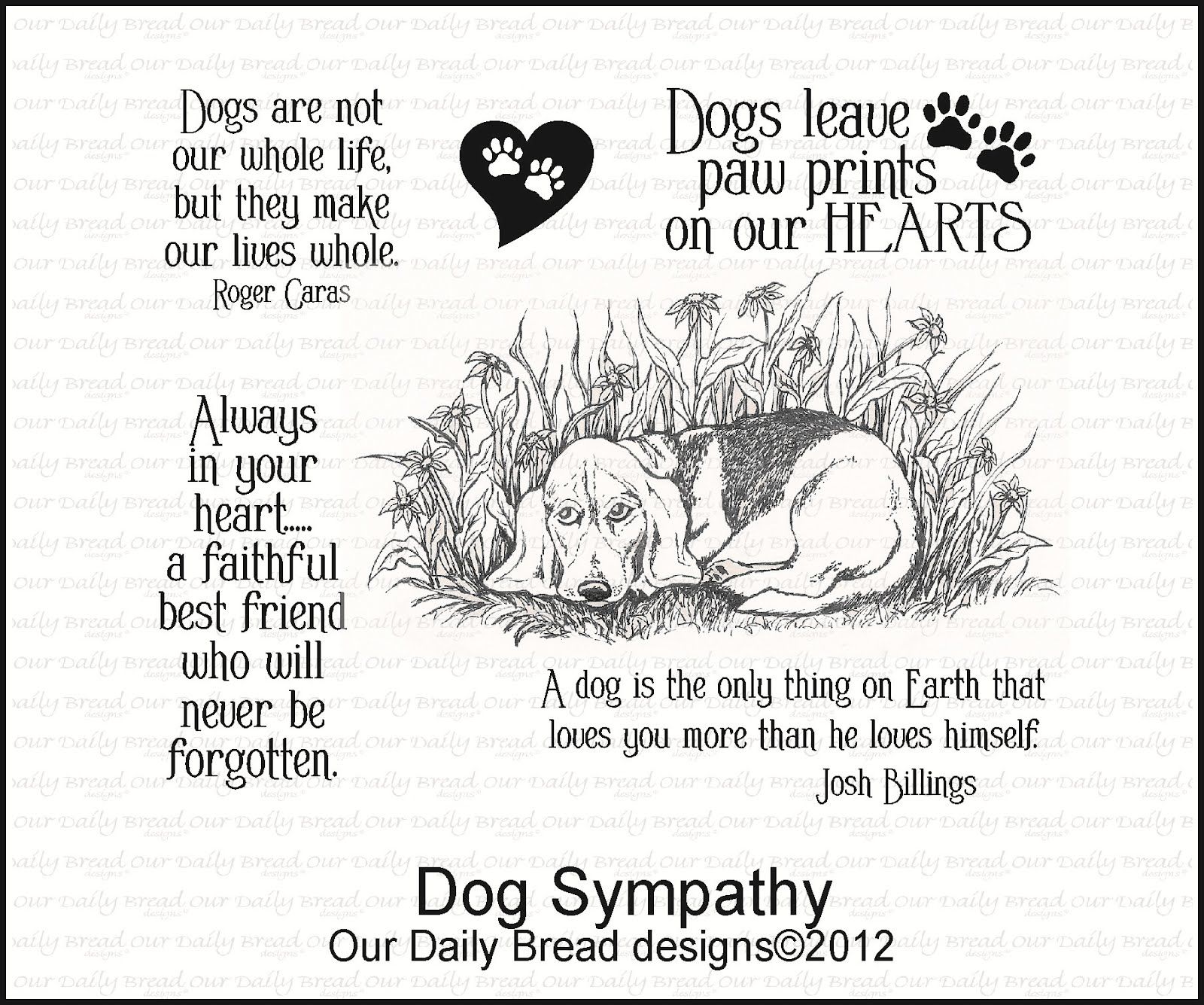 Loss Of Pet Quotes For Dogs: Our Daily Bread Designs Blog: Here Are The April New