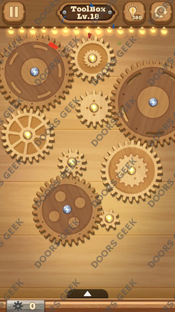 Fix it: Gear Puzzle [ToolBox] Level 18 Solution, Cheats, Walkthrough for Android, iPhone, iPad and iPod