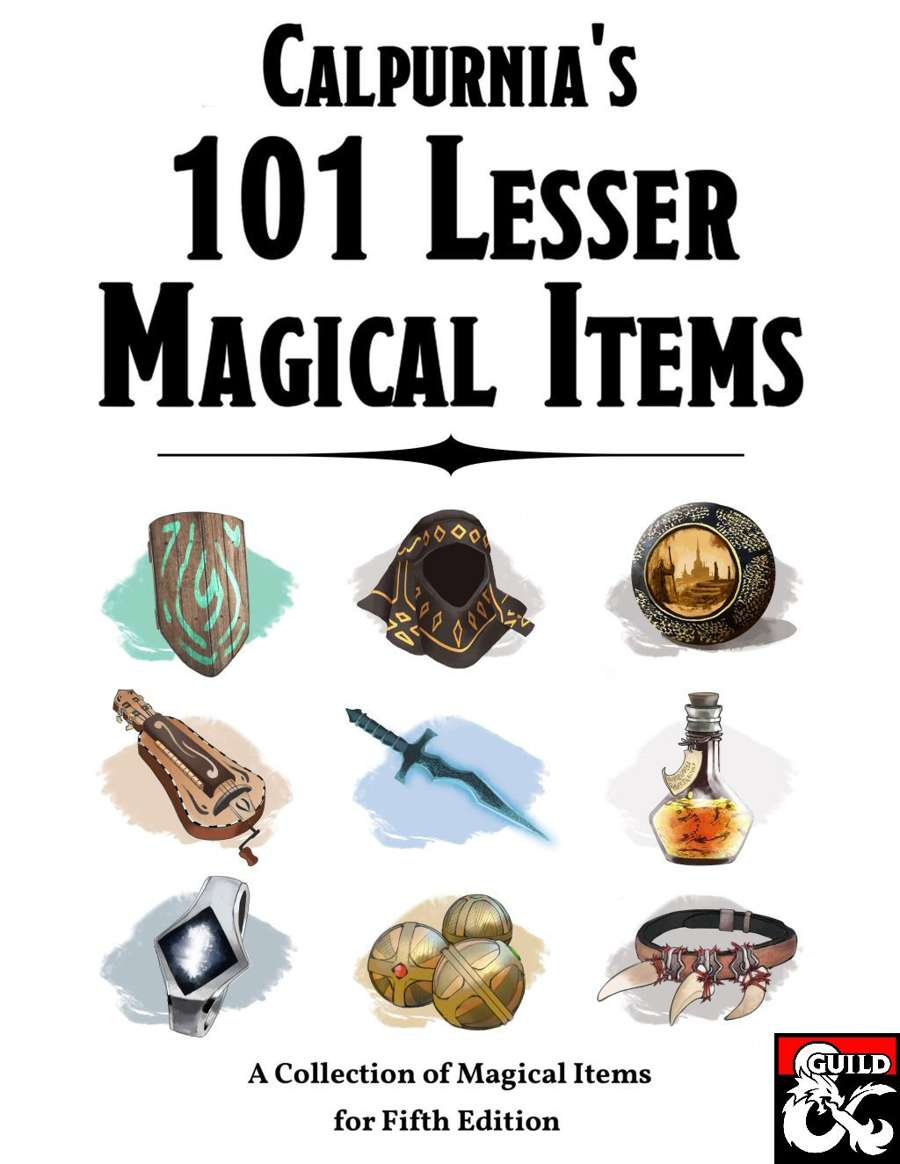 THOUGHT EATER: Review: Calpurnia's 101 Lesser Magical Items for 5e