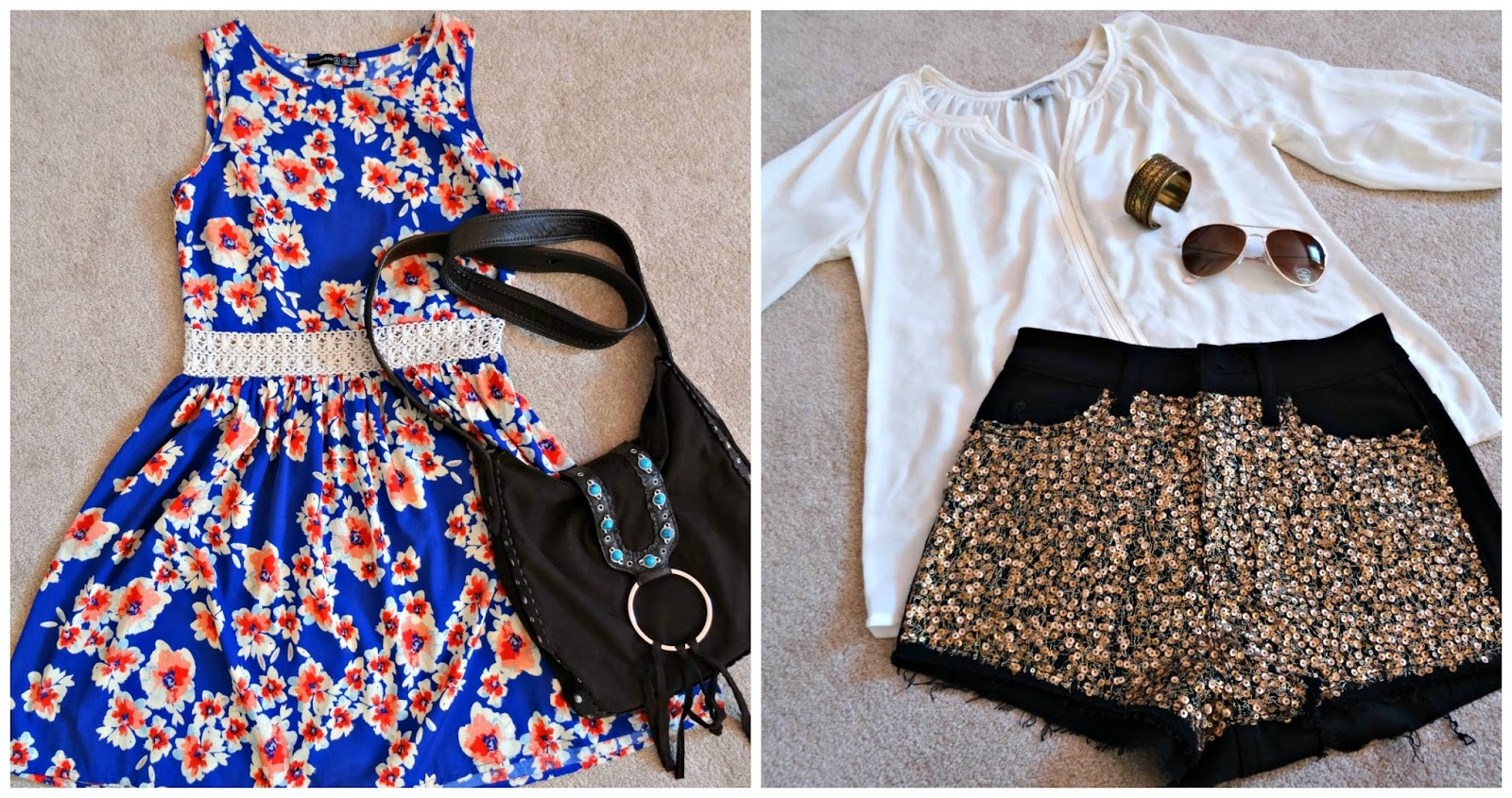 festival outfits flatlays