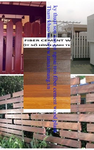 Sơn giả gỗ ngoài trời fiber cement