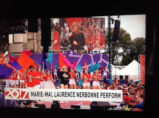 Screenshot CBC coverage Canada 150, Ottawa - Opening act