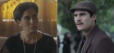 Lola (Gloria Pires) e Alfredo (Nicolas Prattes) na novela das seis: decepção com filho bandido