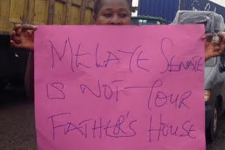 Lagos women protest Dino Melaye's verbal assault on Oluremi Tinubu