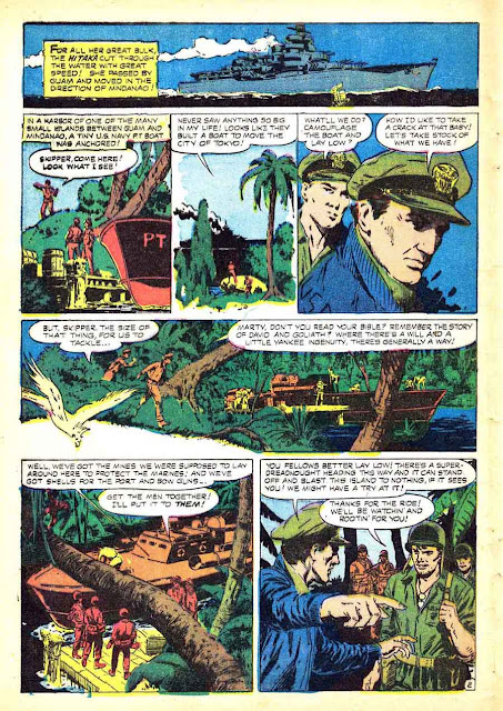 Navy Tales #2 golden age comic book page art by Al Williamson