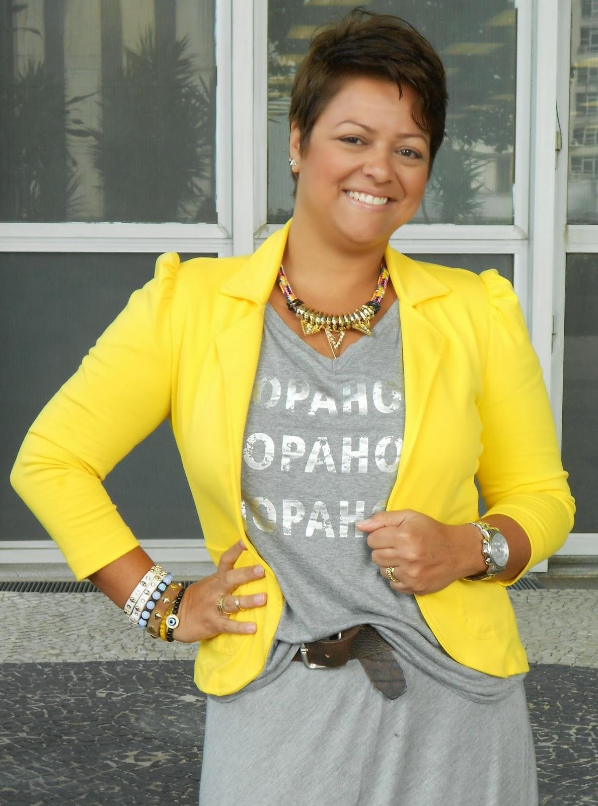 70cba904e2 Look do dia - Cinza + Amarelo!!!!