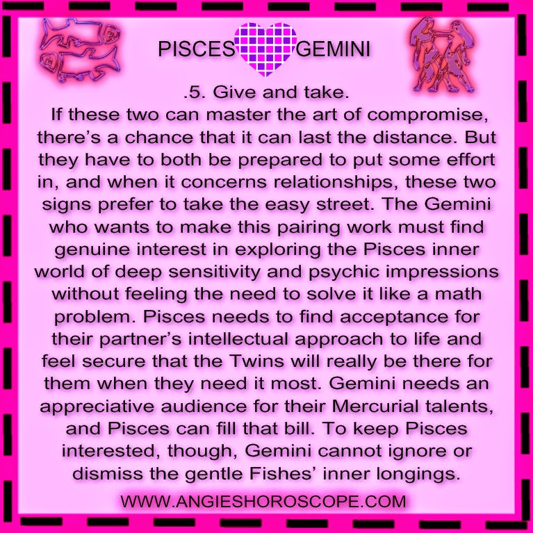 Gemini Cancer Cusp Compatibility With Pisces