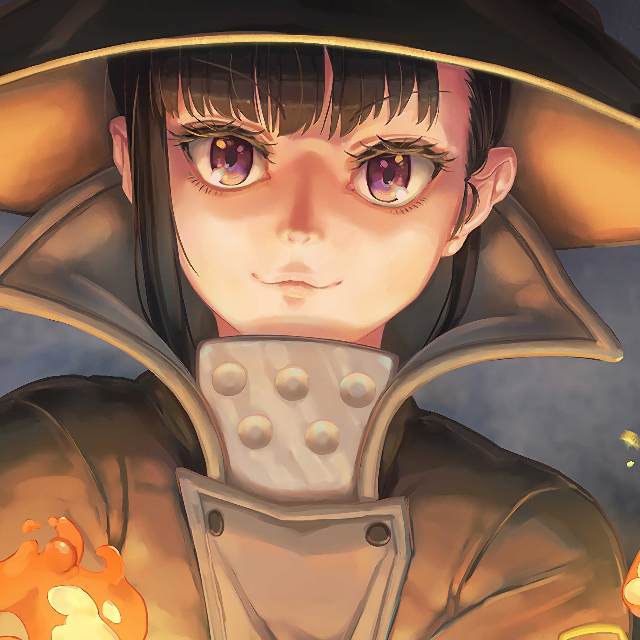 Fire Force Maki Oze Flames 4k 24 Wallpaper