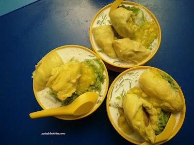 Cendol durian tembaga dan durian kawen di Seksyen 24 Shah Alam