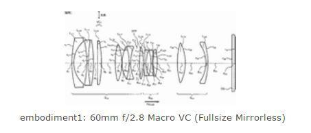 Оптическая схема объектива Tamron 60mm f/2.8 Macro VC