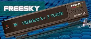 Atualizacao do receptor Freesky Freeduo X + V