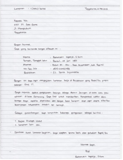 Contoh Surat Lamaran Kerja Umum Yang Baik Dan Benar Contoh Surat