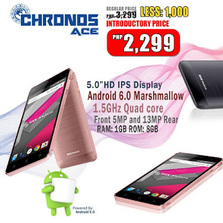 SKK Mobile Chronos Ace Announced, 5-inch HD Quad Core Android Marshmallow for Php2,299