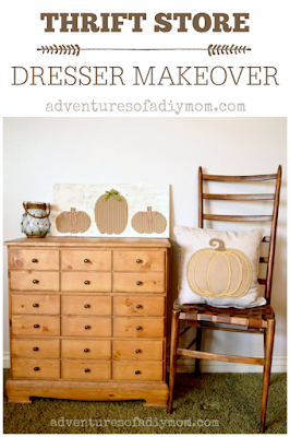 Thrift Store Dresser Makeover - update the look of an old dresser