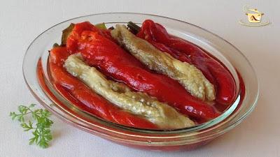 Salata de ardei copti cu vinete - etapa 5
