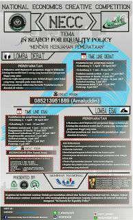 Lomba Debat dan Esai Nasional NECC 2017 di UIN Alauddin Makassar