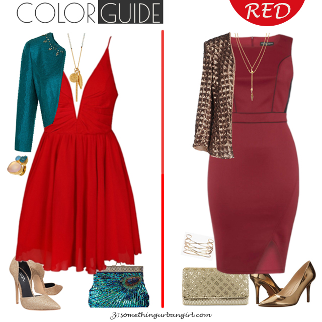 Bold red dresses for Deep Autumn seasonal color women by 30somethingurbangirl.com