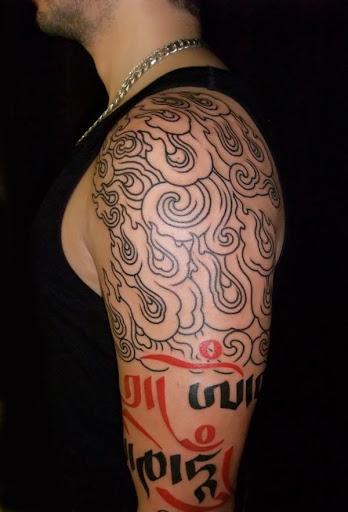 Tribal japonês desenho de tatuagem para homens