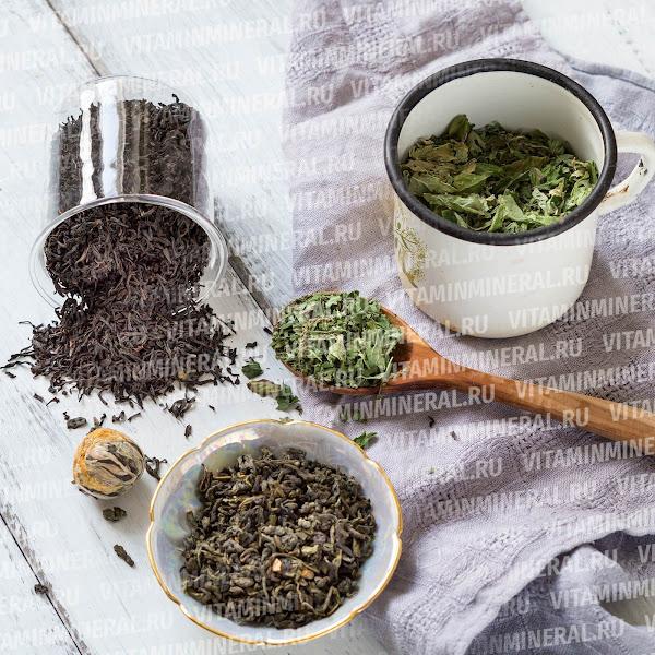 Листья зеленого чая для заварки