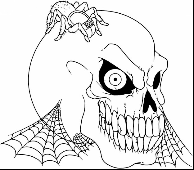 Marvelous Printable Scary Halloween Coloring Pages With