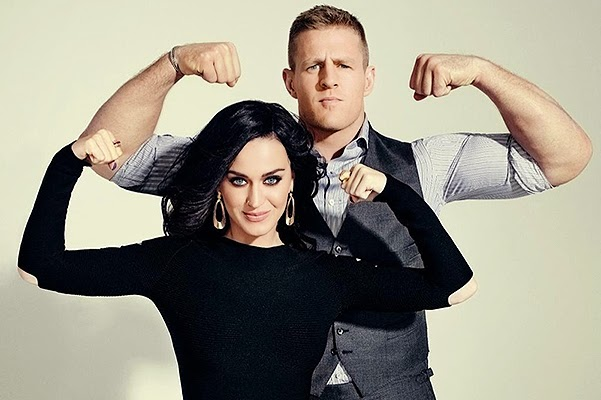 Music and sports: Katy Perry on the cover of ESPN Music Issue