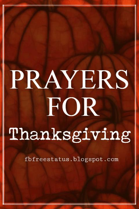 Beautiful & Inspiring Blessings Prayers For Thanksgiving