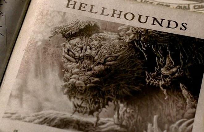 cães infernais, cão do inferno, medo, demônio, terror
