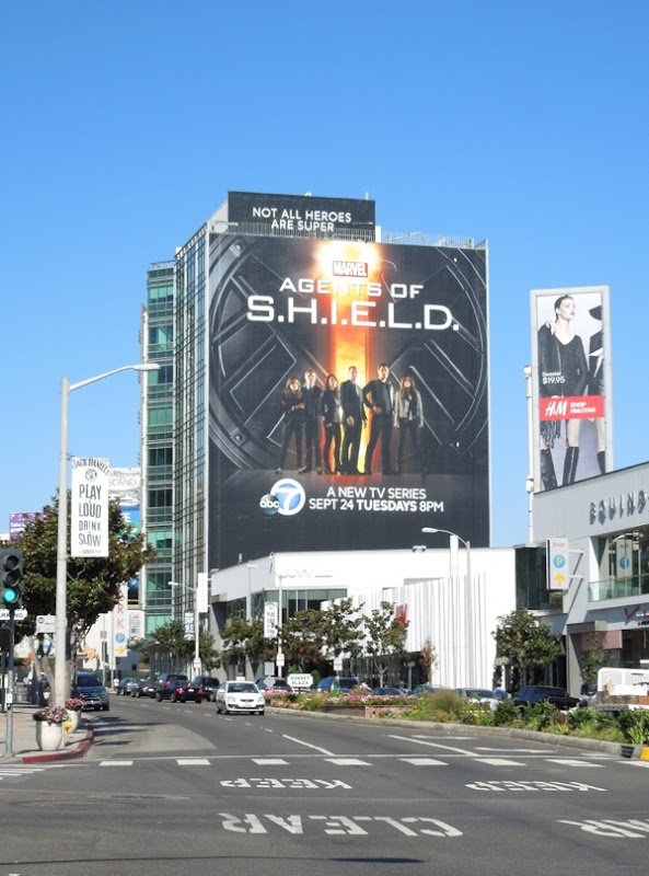 Giant Agents of SHIELD billboard Sunset Strip