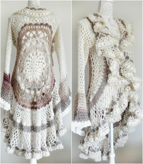 Crochet Circular Vest Sweater - Free Pattern