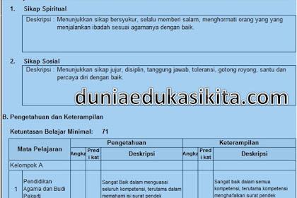 Raport Kurikulum 2013 Tahun ajaran 2018-2019 SMP Terbaru Fitur Lengkap