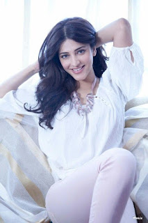 Shruti Haasan looking hot in white dress