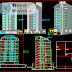 مخطط عمارة سكنية 8 طوابق مع موقف سيارات تحت الارض اوتوكاد dwg