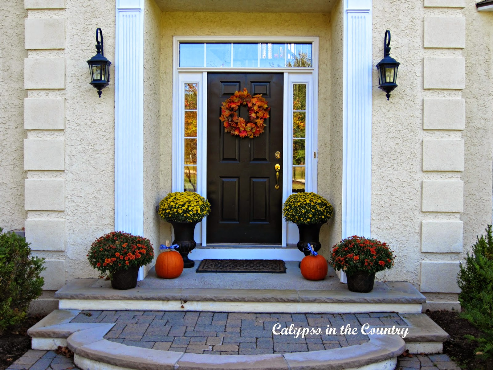 Fall Front Door and Porch