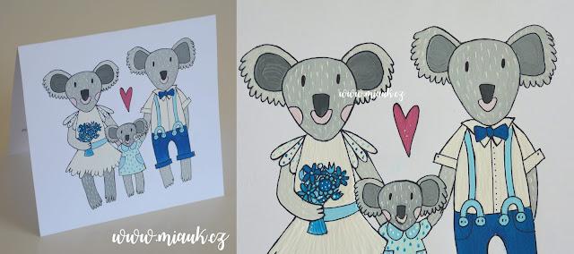 malované přání koala