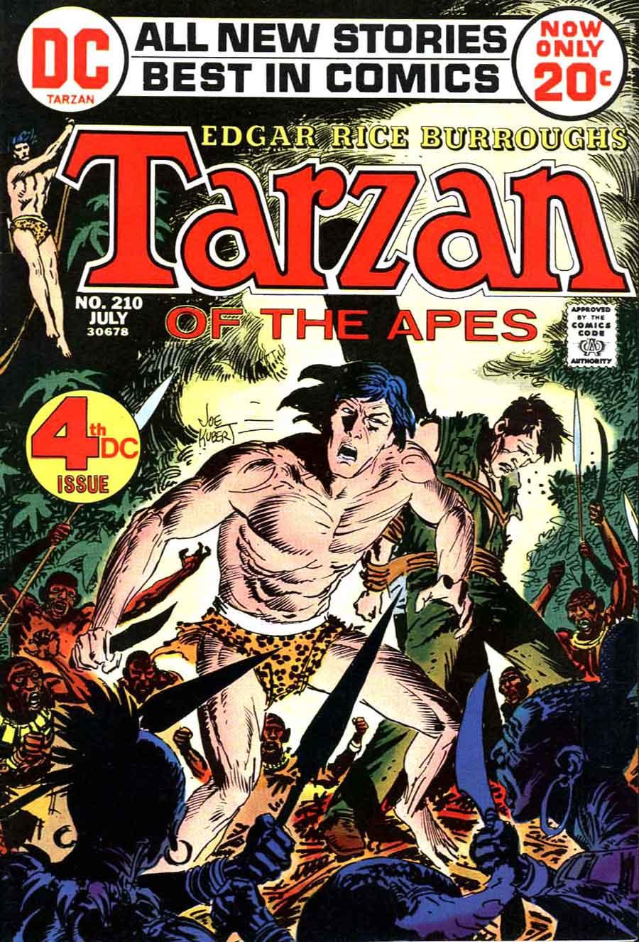 Tarzan v1 #210 dc bronze age comic book cover art by Joe Kubert