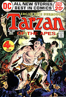 Tarzan v1 #210 dc bronze age comic book cover art by Joe Kubert