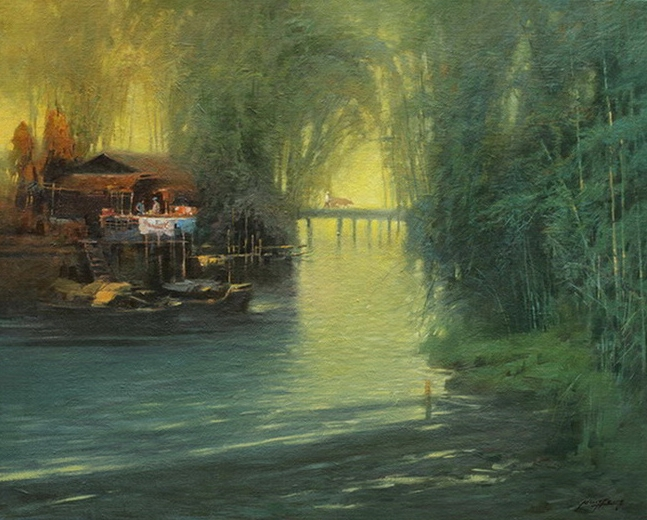 Chinese Impressionist Painter Ming Feng- 1957