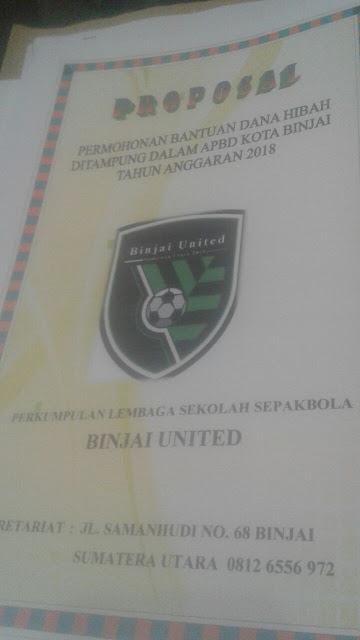 Waw..! Binjai United Ajukan Permohonan  Dana Hibah Rp. 400 Juta