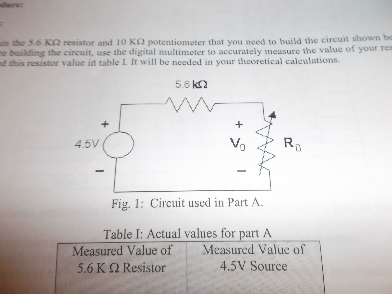 Dc And Ac Circuits Lab Maximum Power Circuit Calculator Next We Had To Construct Our On The Breadboard As Specified In Figure 1 Measured Supply Be 454 V It Should Noted That This