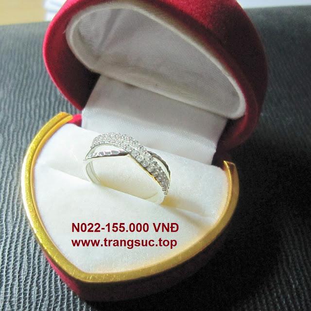 TrangSuc.top - Nhẫn đính đá trắng cao cấp MSN022 - 155.000 VNĐ Liên hệ: 0906 846366(Mr.Giang)