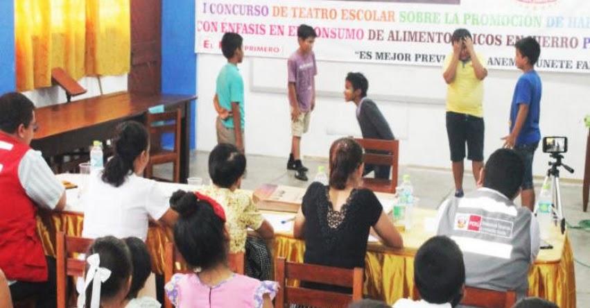 Midis - Qali Warma realizó primer concurso de teatro escolar sobre la promoción de hábitos alimentarios saludables - www.qaliwarma.gob.pe