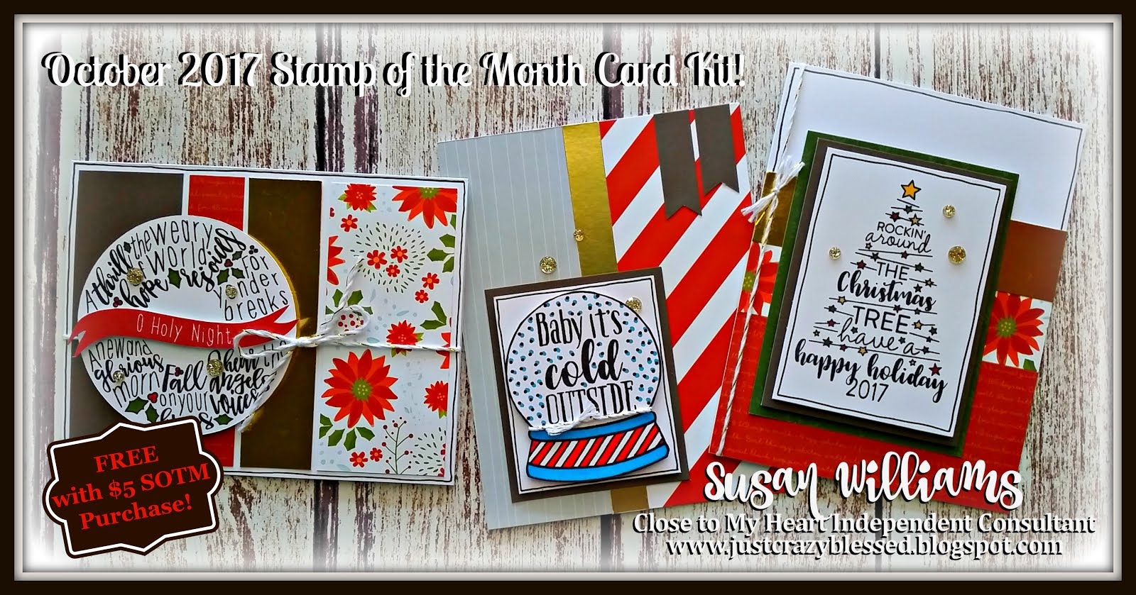 October Stamp of the Month (72) Card Workshop!