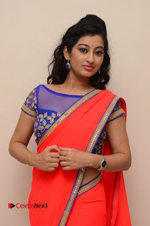 Actress Tejaswini Pictures in Saree at Pratikshanam Audio Launch  0023.JPG