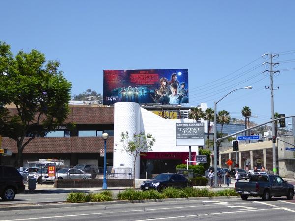 Stranger Things TV series billboard
