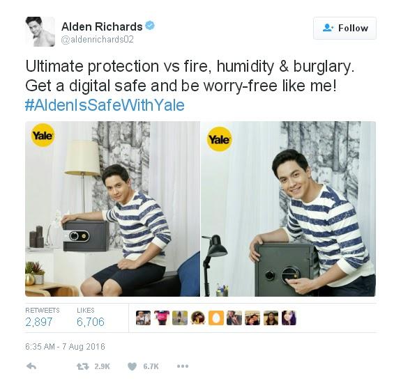Alden Richards is safe with Yale