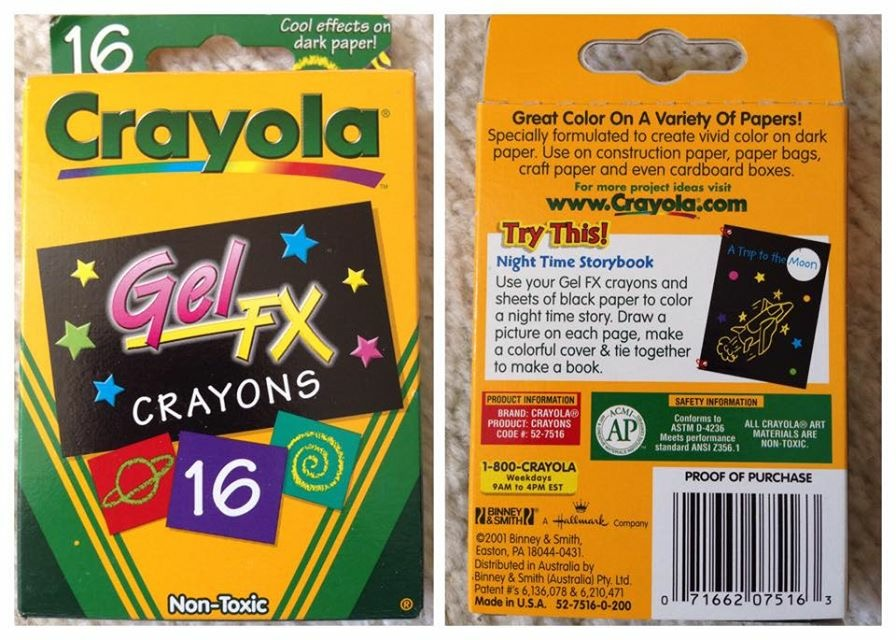 Crayola Gel Markers and Gel FX crayons: What\'s Inside the Box ...