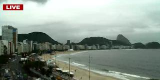 Kamera na plaży Copacabana w Rio de Janeiro