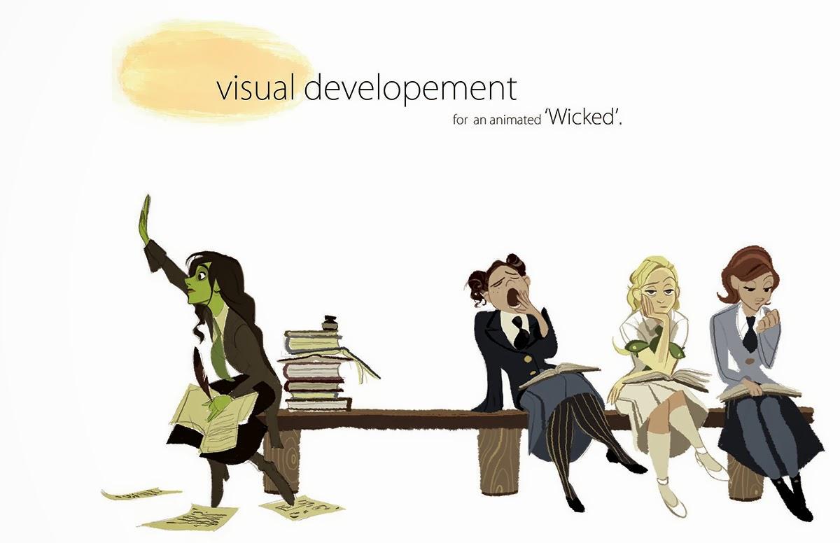 Old Animation Development Art For Wicked By Disney Artist Minkyu Lee