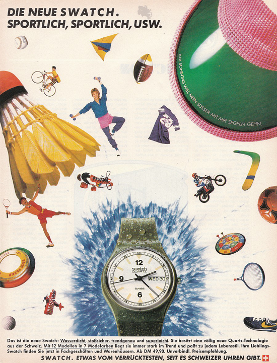 Swatch advertising 1983 - Penthouse