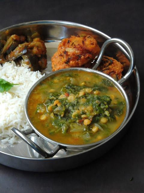 Radish Green Kootu, Channadal Greens Kootu